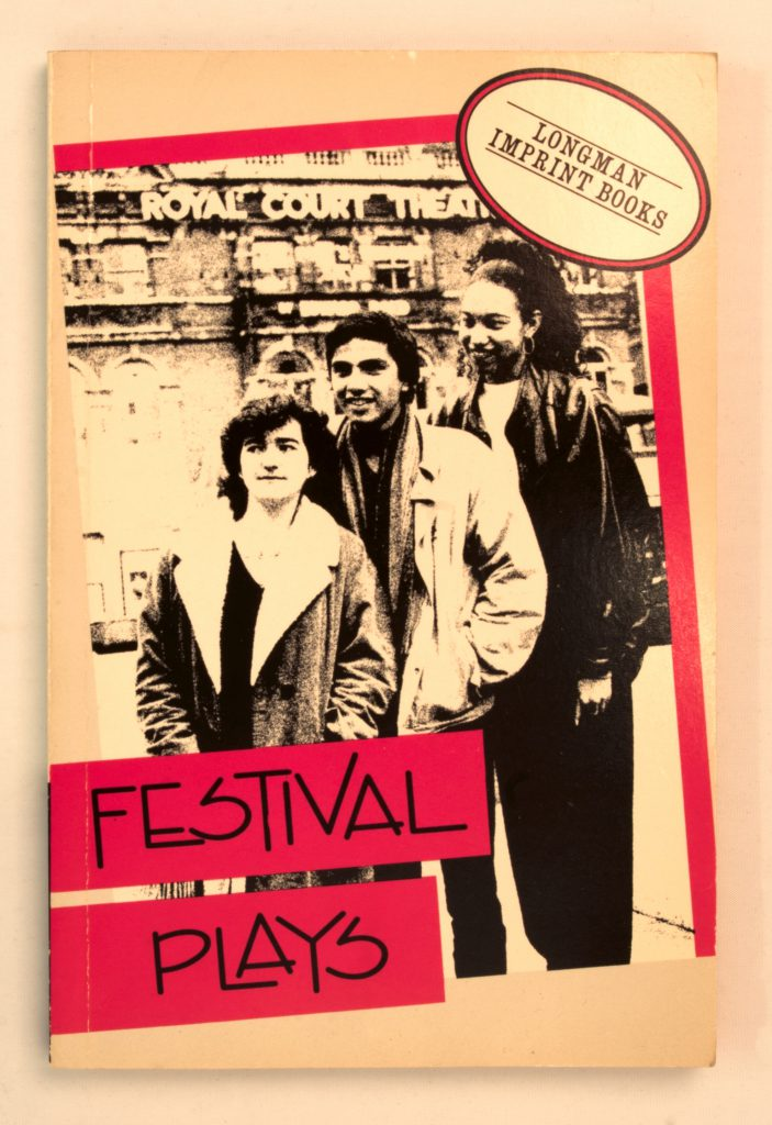 Festival Plays book cover, Maria is one of the three writers photographed on the cover