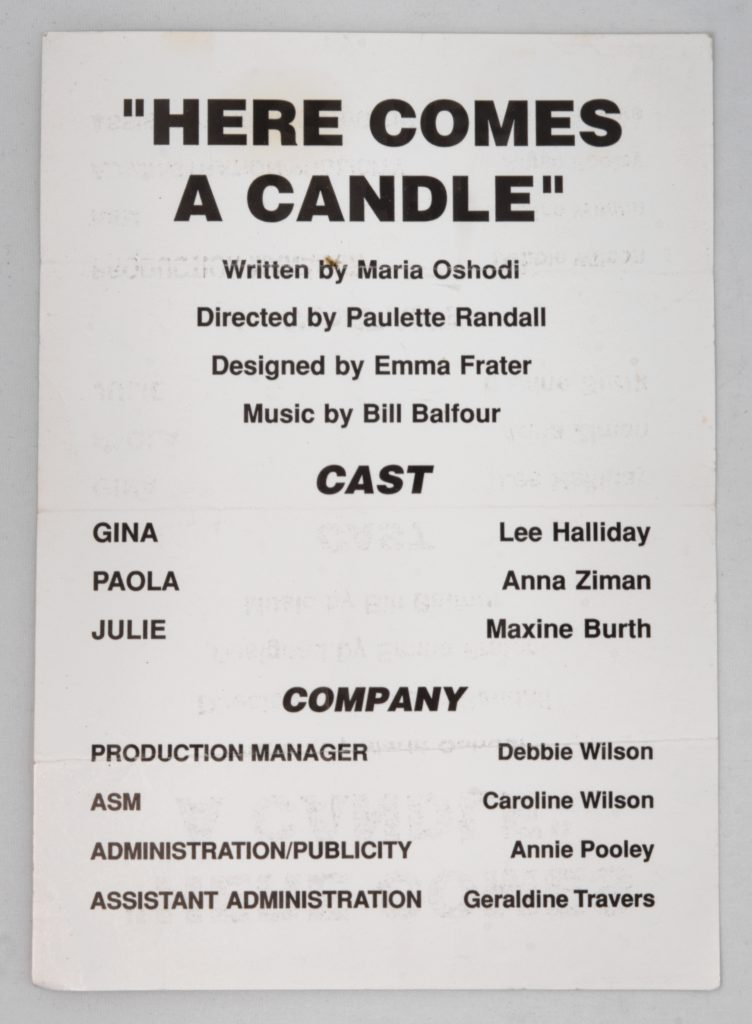 Text-only Poster for Here Comes a Candle