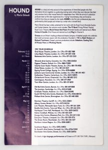Back of the Hound programme with cast and crew details