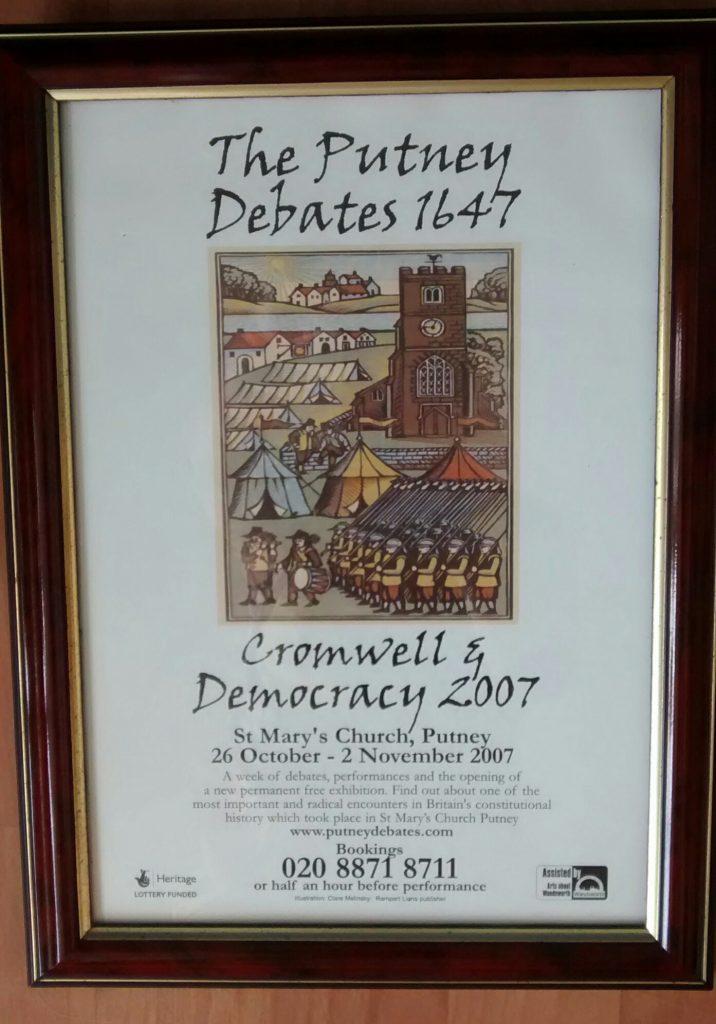 Putney debates poster - framed